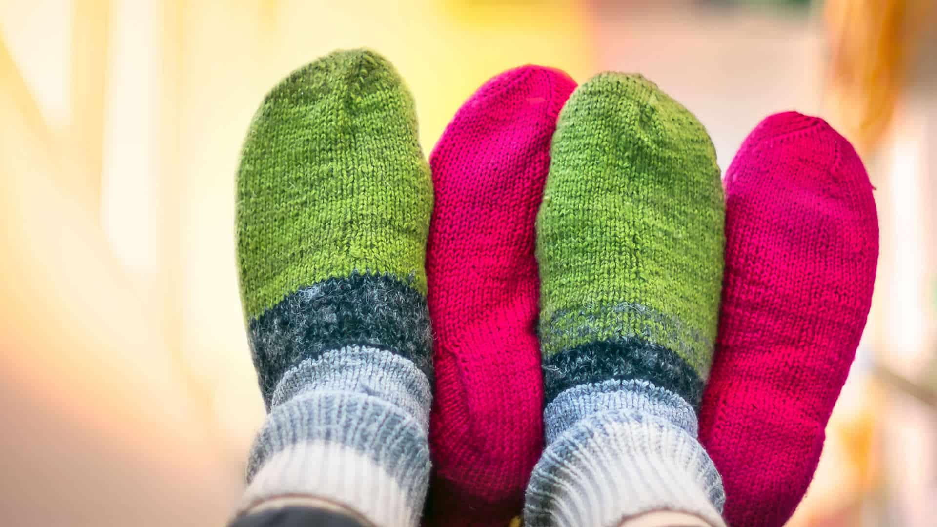 Dicke Socken bedeuten Glück
